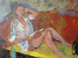 The Actress Prepares oil on canvas by Wendy Garner, 2008  23 x 30 inches